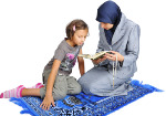 photo-24952336-young-nice-muslim-female-teaching-her-daughter